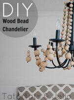 Make a Beachy Wood Bead Chandelier (tutorial)!!