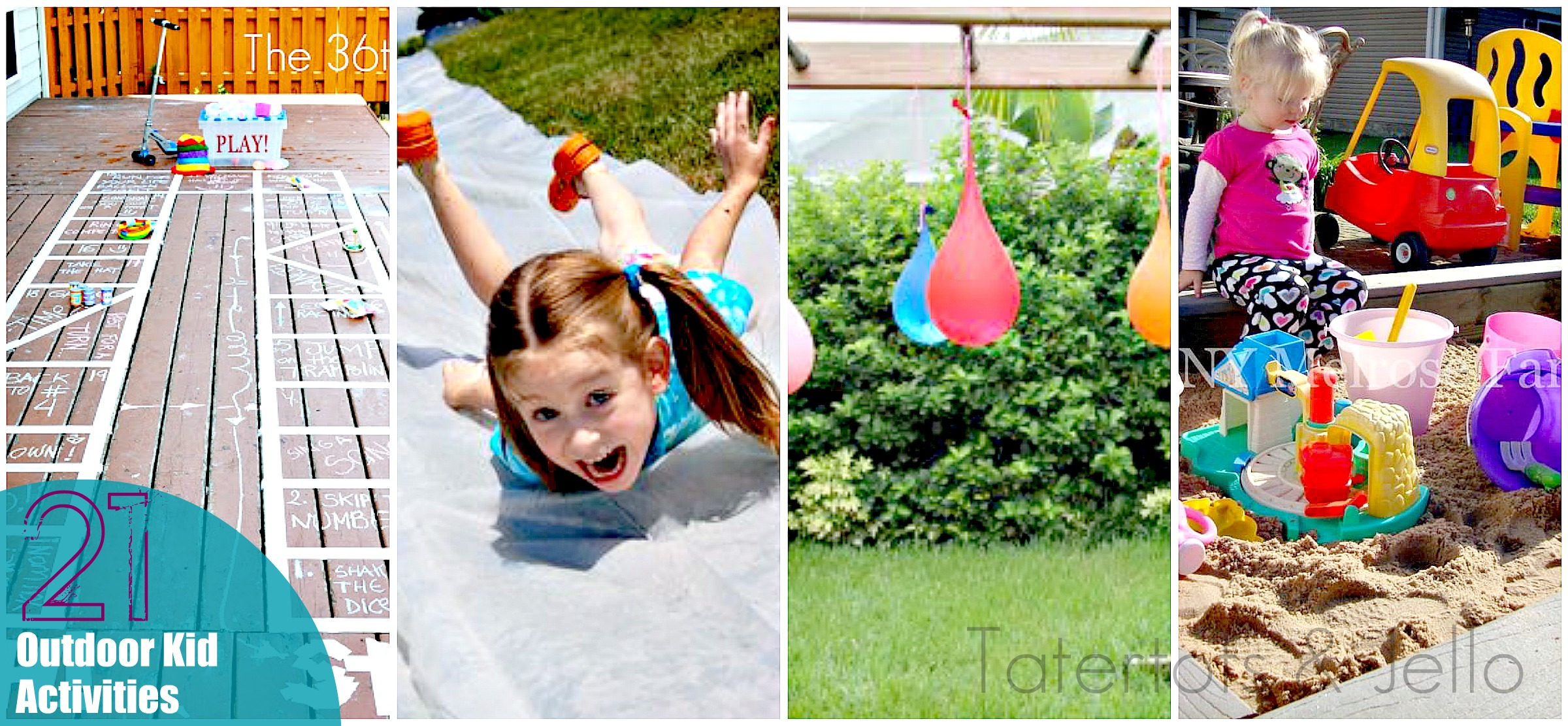 Decorations For A Fun Outside: 12 FUN Outdoor Activities To Make With Kids