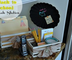 back to school crate station