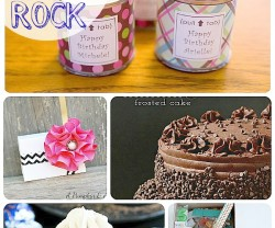 birthday ideas collage