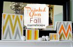 Painted Glass Fall Mantelscape