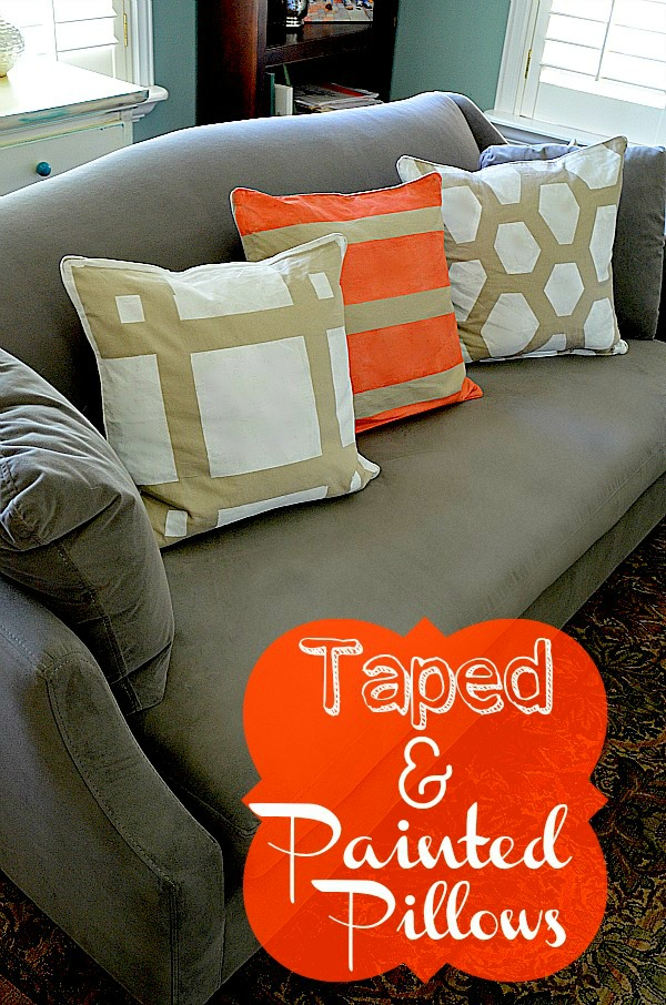 How to make a painted pillow cover