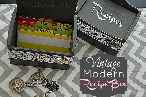 Make A Modern Vintage Recipe Box Great Gift Idea
