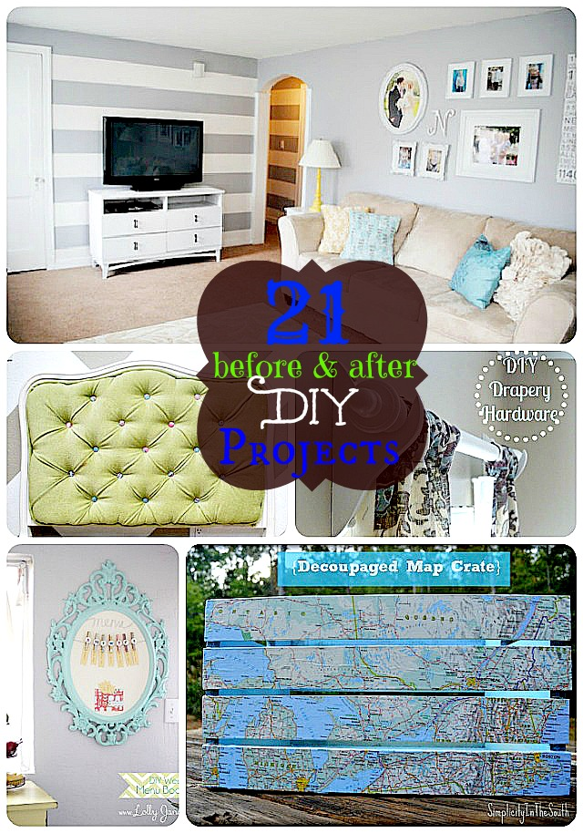 21 before and after DIY projects from Tater Tots and Jello.