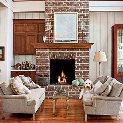 Fireplace inspiration 10 fireplaces that showcase natural Color ideas for living room with brick fireplace