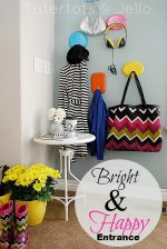 Get Organized with a Bright and Colorful Entryway!