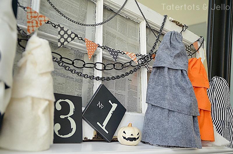 halloween chain pennants