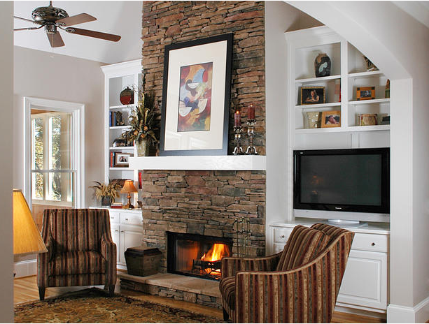 10 Brick and Stone Fireplaces!