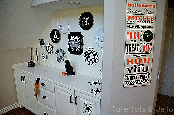 tatertots and jello plate wall and countdown calendar