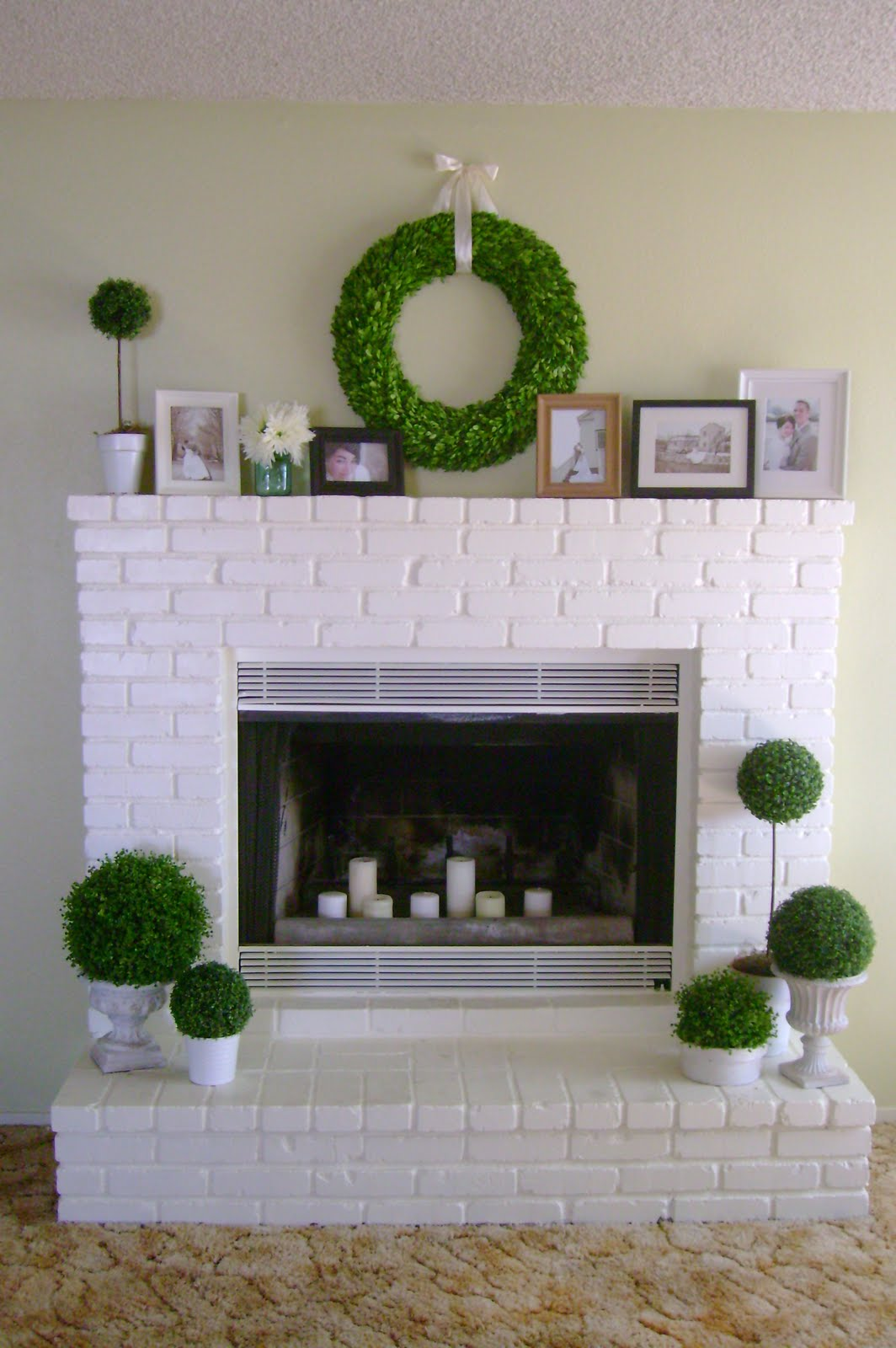 white brick wall fireplace quotes