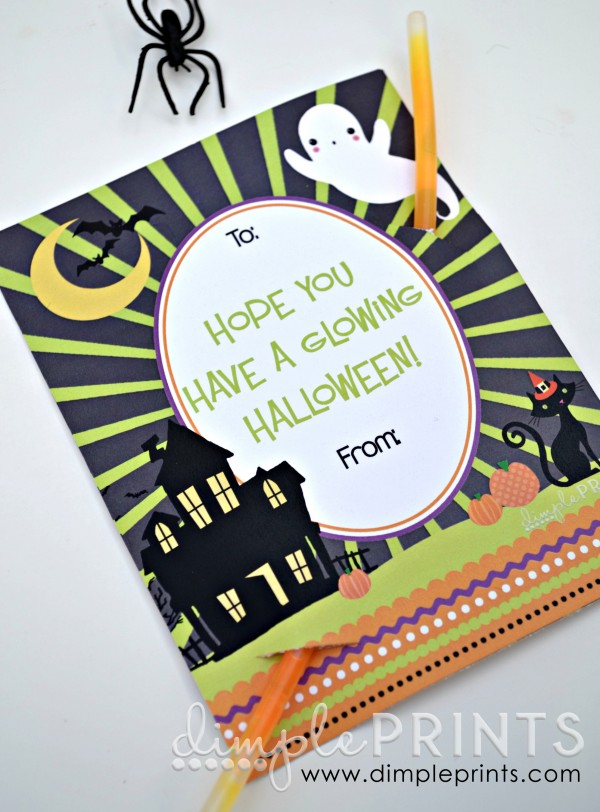 halloween class party printables - Glow Sticks For Halloween