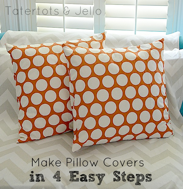 Make Easy Decorative Pillow Cover : Make Envelope Pillow Covers in 4 Easy Steps!