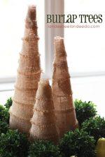 HAPPY Holidays – DIY Burlap Trees!