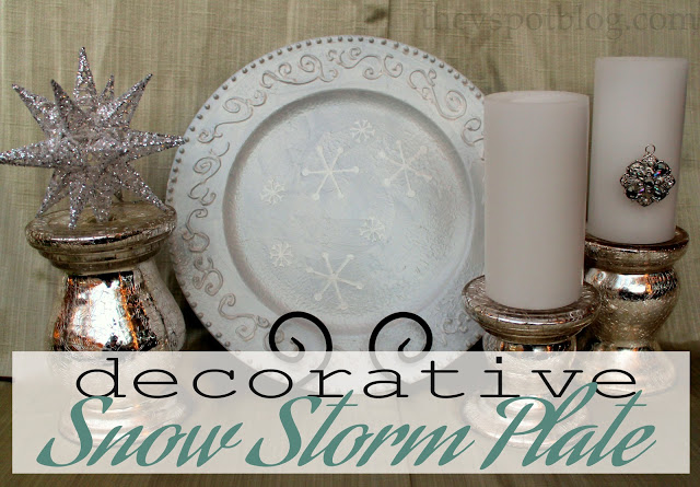 HAPPY Holidays: DIY 3-D Holiday Plate