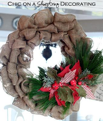 HAPPY Holidays — DIY Burlap Holiday Wreath