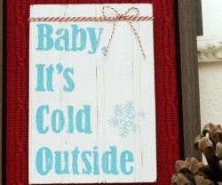 diy winter shadowbox idea