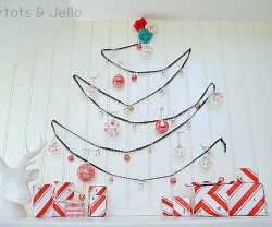 holiday wall tree and painted glass advent calendar