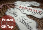 HAPPY Holidays — Printed Fabric Gift Tags (free printable)