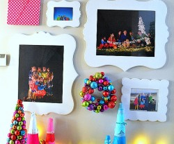 christmas family gallery wall