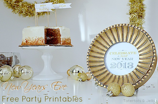 New Year's Eve Free Party Printables