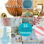 DIY Wood Bead Chandelier and 16 Beaded Chandelier Tutorials!