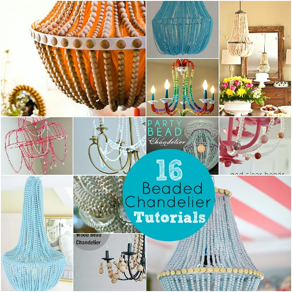 Upcycle a plain chandelier into a beaded showpiece aloadofball Image collections