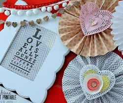 Valentine Eyechart Printable from Tatertots & Jello