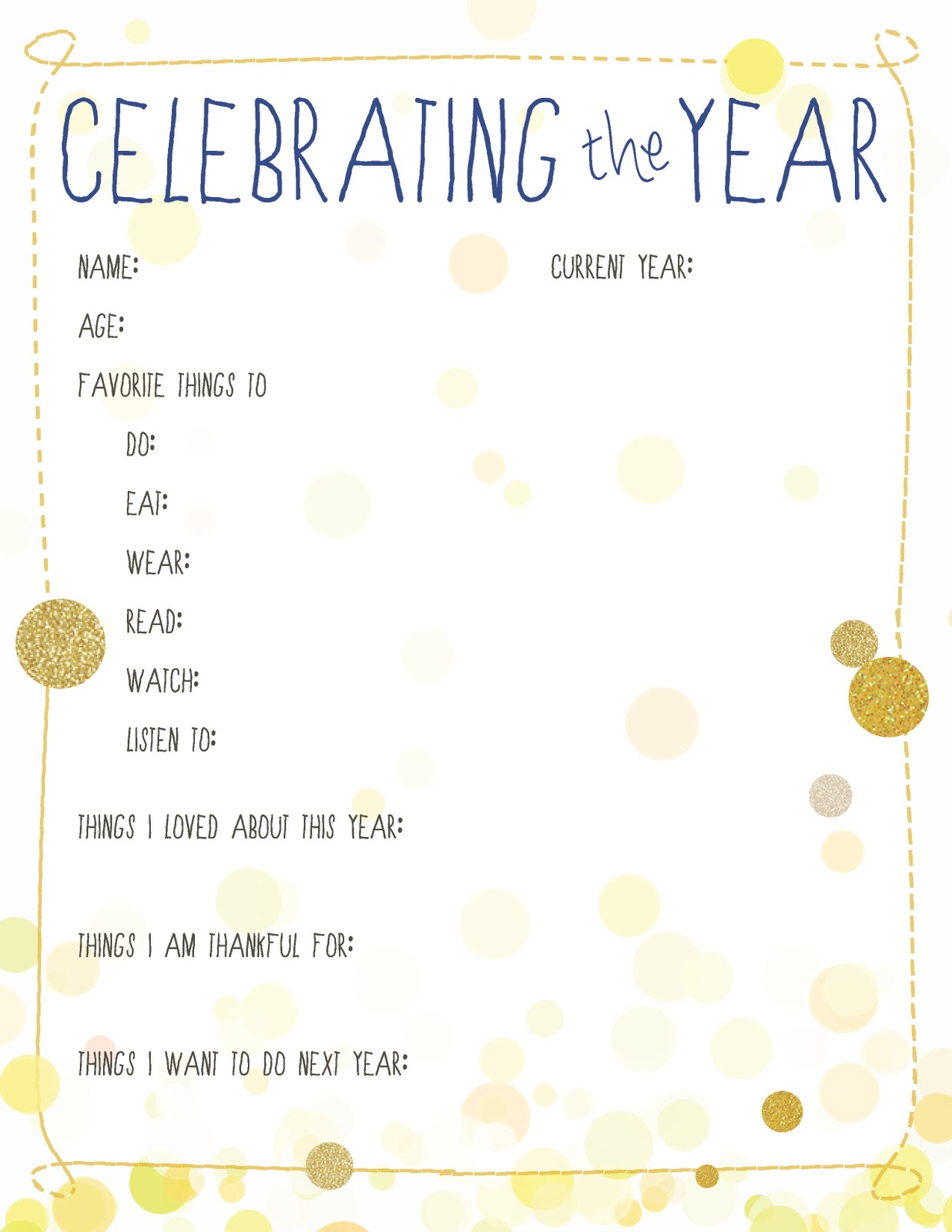 10 New Year's Resolution Printables