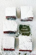 Easy Valentine Treat Recipe — Red Velvet Brownies
