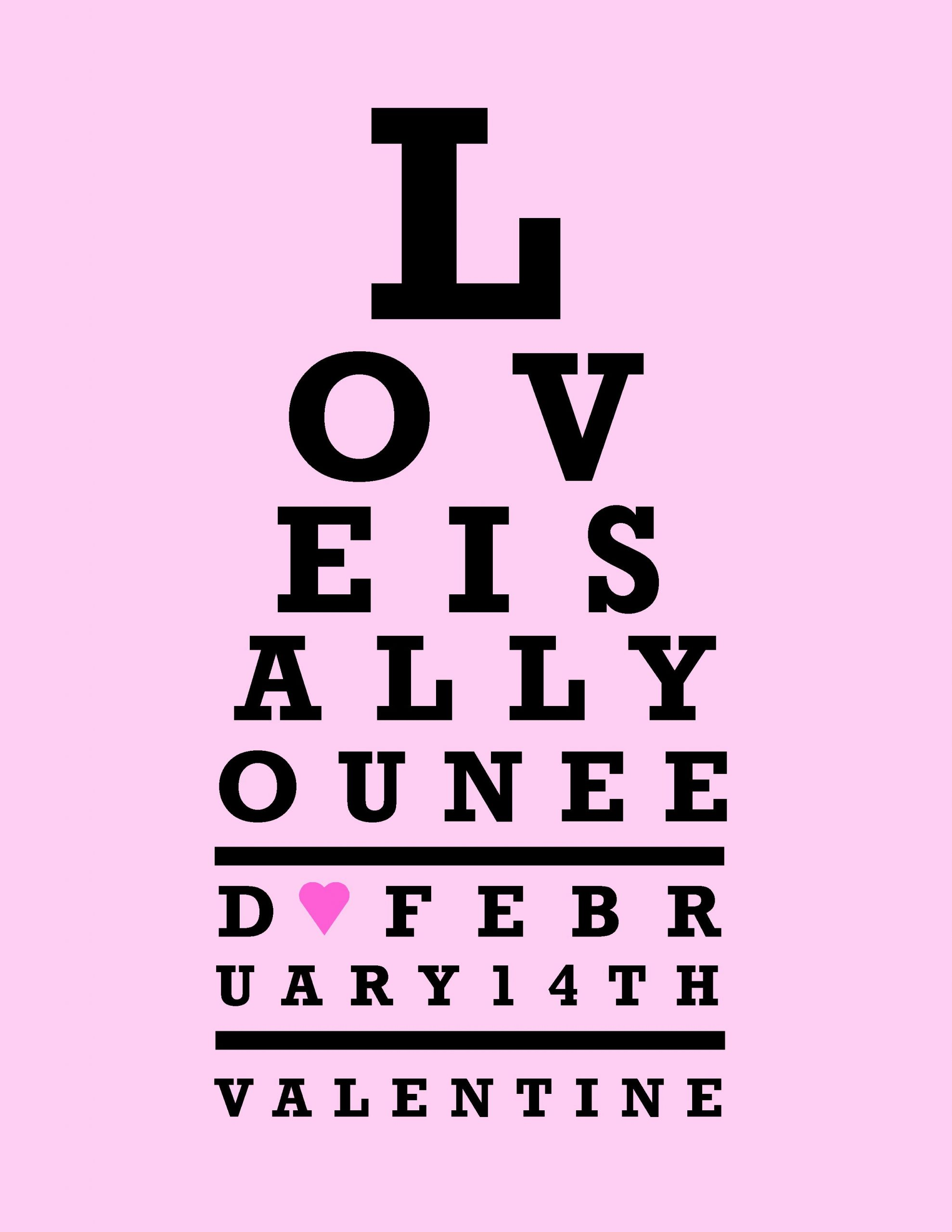 This is an image of Irresistible Printable Eye Test Charts