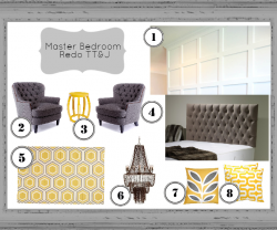 master bedroom redo inspiration board