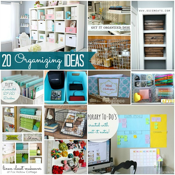 Great ideas 20 ways to organize your home Organizing home
