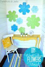 Make DIY Wood Shim Flowers! #LowesCreator