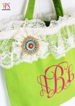 Make a DIY Monogrammed Lacy Spring Tote!