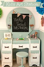Turn a Discarded Vanity into a DIY Kids' Art Station!