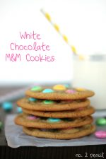Make White Chocolate M&M Cookies for Spring! (recipe tutorial)