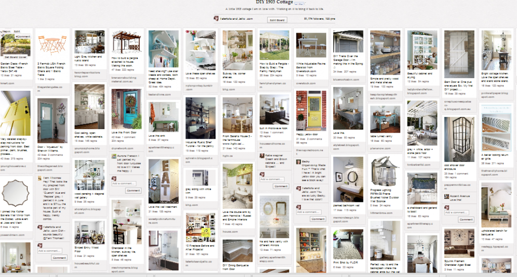 1905 cottage pinterest board