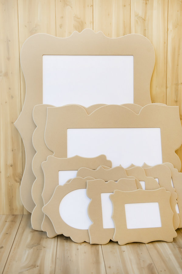 spray paint frames for a gallery wall
