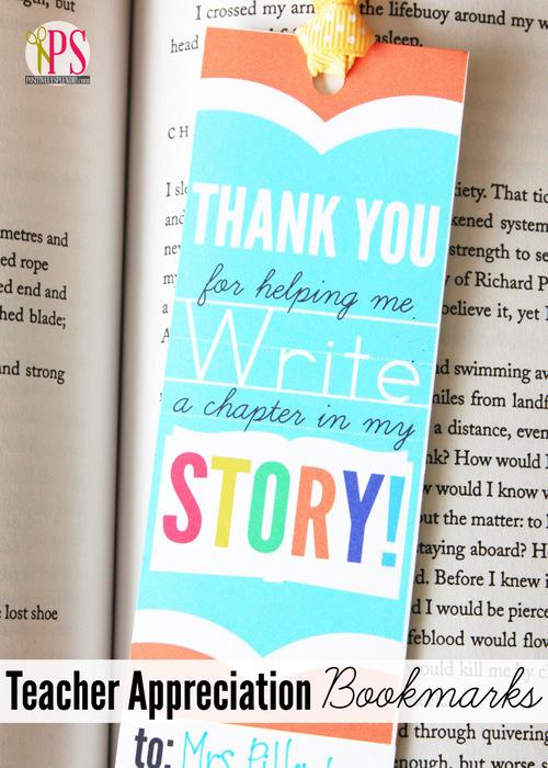 free printable teacher appreciation bookmarks tatertots and jello bookmark design ideas - Bookmark Design Ideas