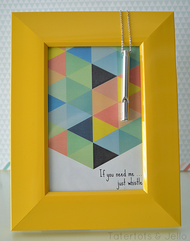 Whistle Printable in Yellow Frame at Tatertots and Jello