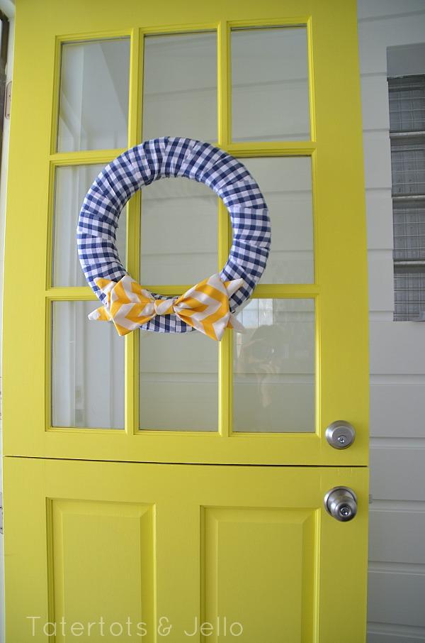 blue and white nautical wreath