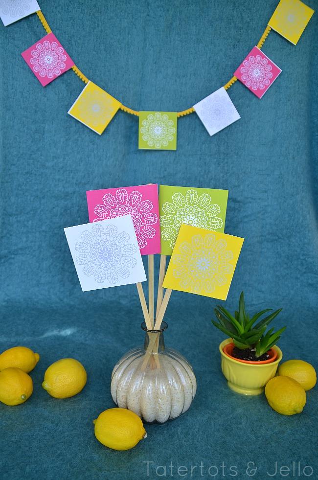 cinco de mayo square printables at Tatertots and Jello