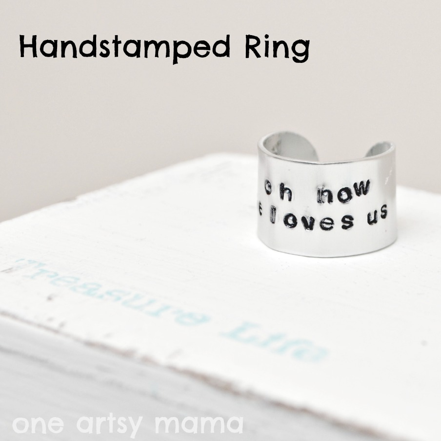 hand stamped ring tutorial