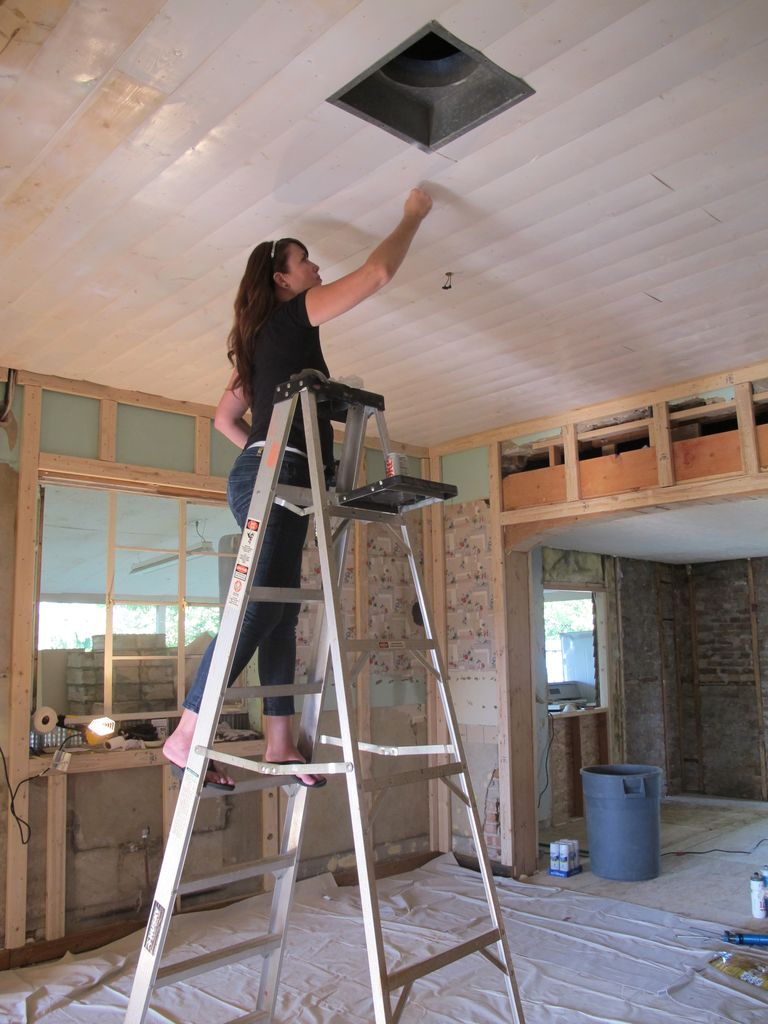 little house planked kitchen ceiling