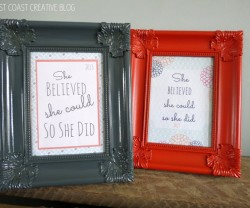 sweet and simple graduation gift and free printable