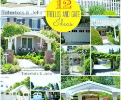 12 trellis and gate ideas at tatertots and jello