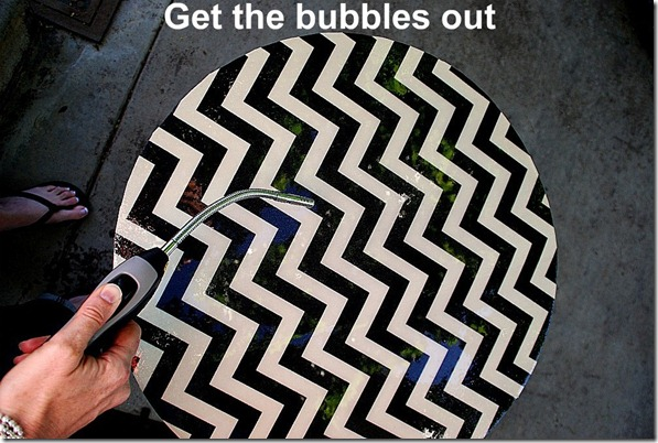 get the bubbles out