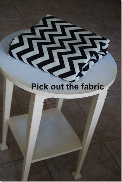 pick out the fabric