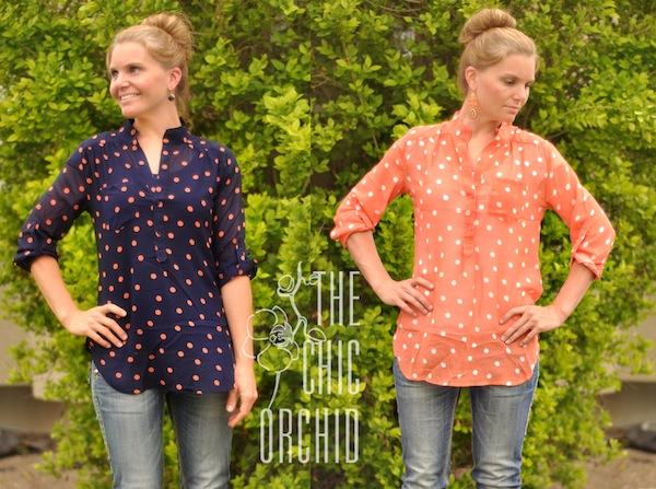 Amazing navy and melon tops