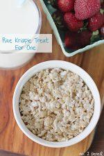 Recipe: Rice Krispie Treat for One!